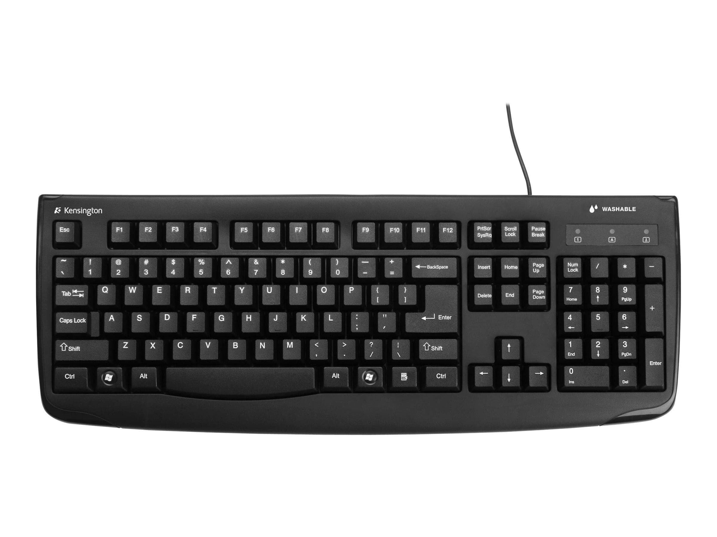 Kensington Pro Fit USB Washable Keyboard, K64407US