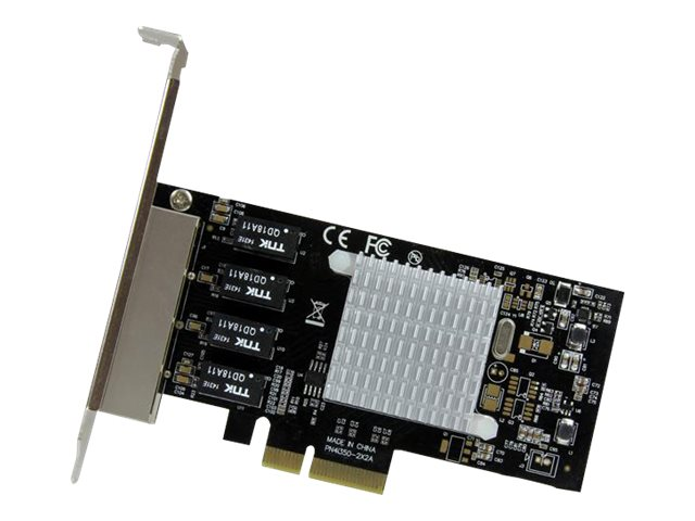 StarTech.com 4-Port Gigabit Ethernet PCI Express Network Card with Intel I350 Chipset, ST4000SPEXI
