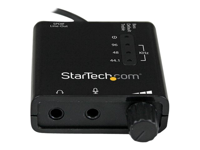 StarTech.com USB Stereo Audio Adapter External Sound Card with SPDIF Digital Audio, ICUSBAUDIO2D