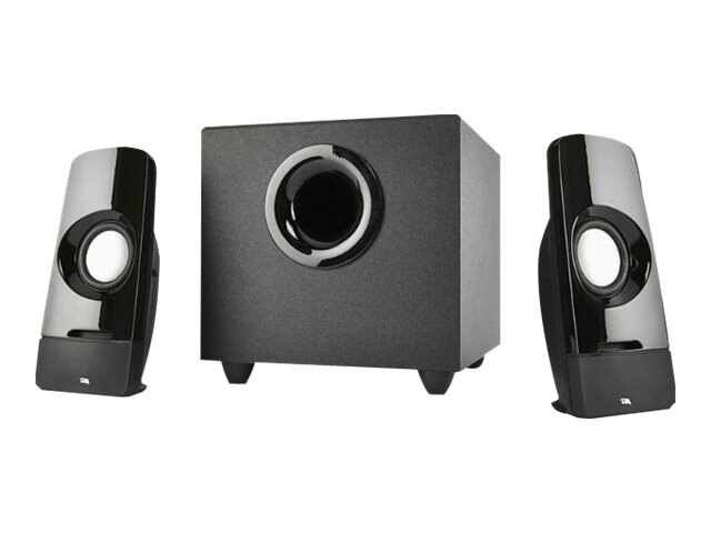 Cyber Acoustics Curve Series Control Pod Subwoofer 2.1 Powered Speaker System, CA-3050, 29489188, Speakers - Audio