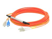 ACP-EP LC-SC 62.5 125 and 9 125 Duplex Mode Conditioning Fiber Cable, Orange, 2m