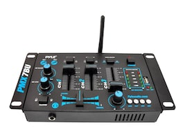 Pyle BT DJ MP3 3-Channel Mixer w  Mic, PMX7BU, 31478197, Music Hardware