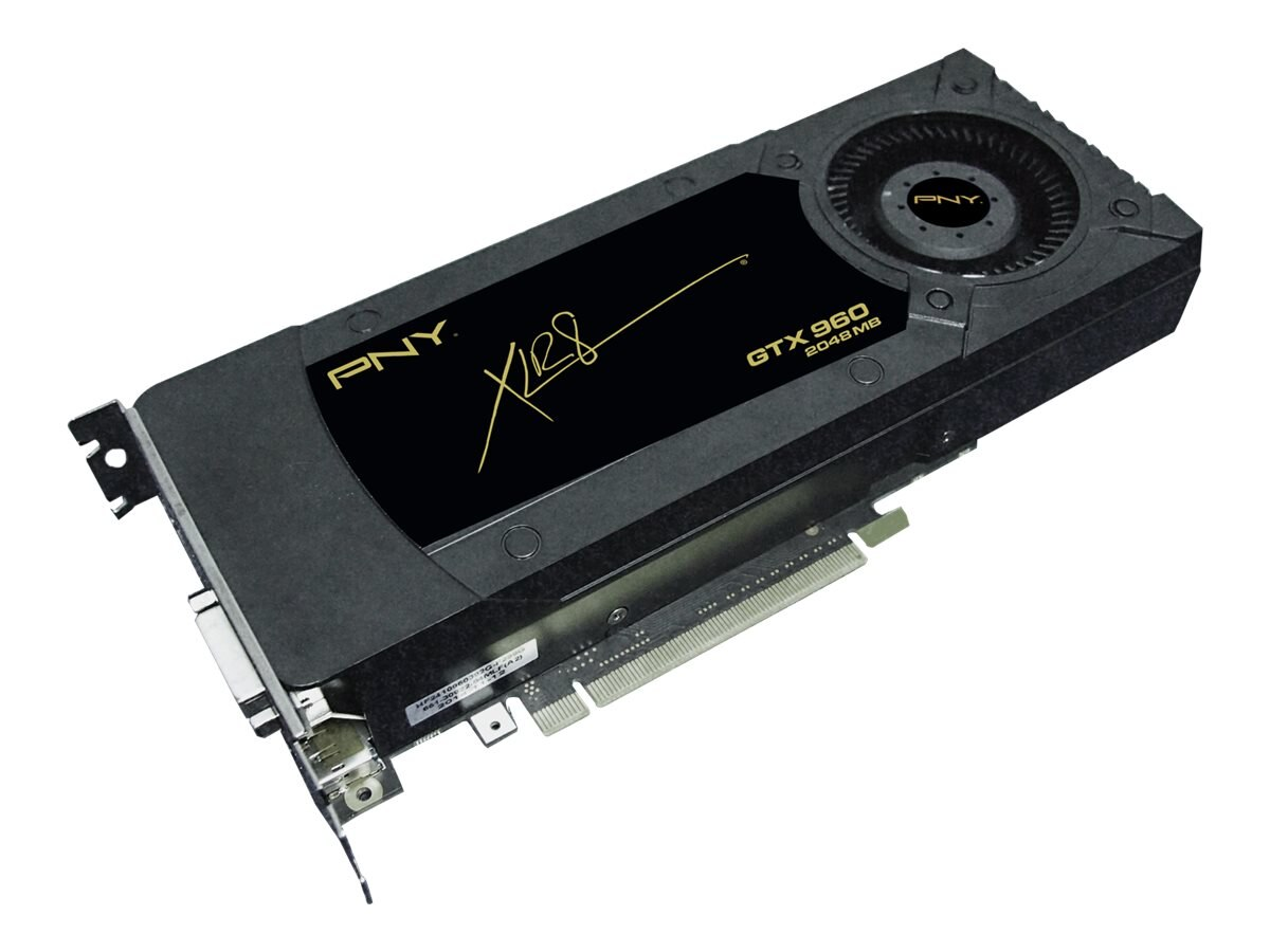 PNY GeForce GTX 960 PCIe 3.0 x16 Graphics Card, 2GB GDDR5, VCGGTX9602XPB, 18402024, Graphics/Video Accelerators