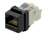 Panduit Category 6, 8-position, 8-wire Keystone Jack Module, Black
