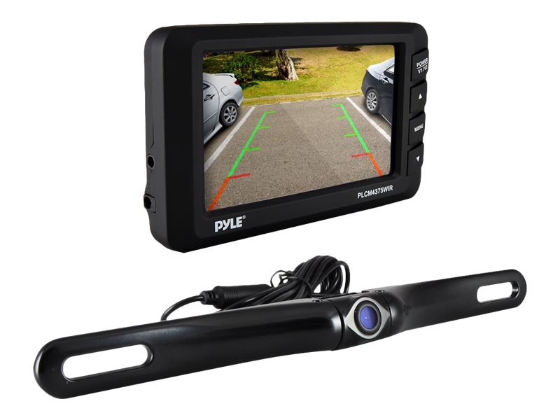 Pyle Rear View Back-up Camera and Parking Reverse Assist System with 4.3 Display, PLCM4375WIR