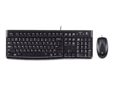Logitech Desktop MK120 Slim Keyboard Mouse Combo, USB, Black, 920-002565