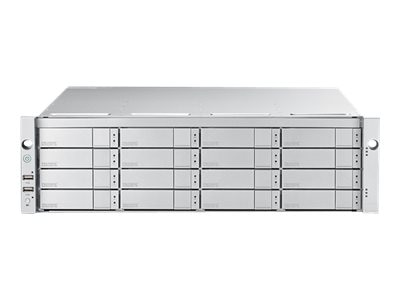 Promise 128TB 3U 16-Bay FC 16Gb s Single Controller RAID Subsystem w  16X8TB SAS 12Gb s 7.2K RPM Hard Drives, E5600FDQS8