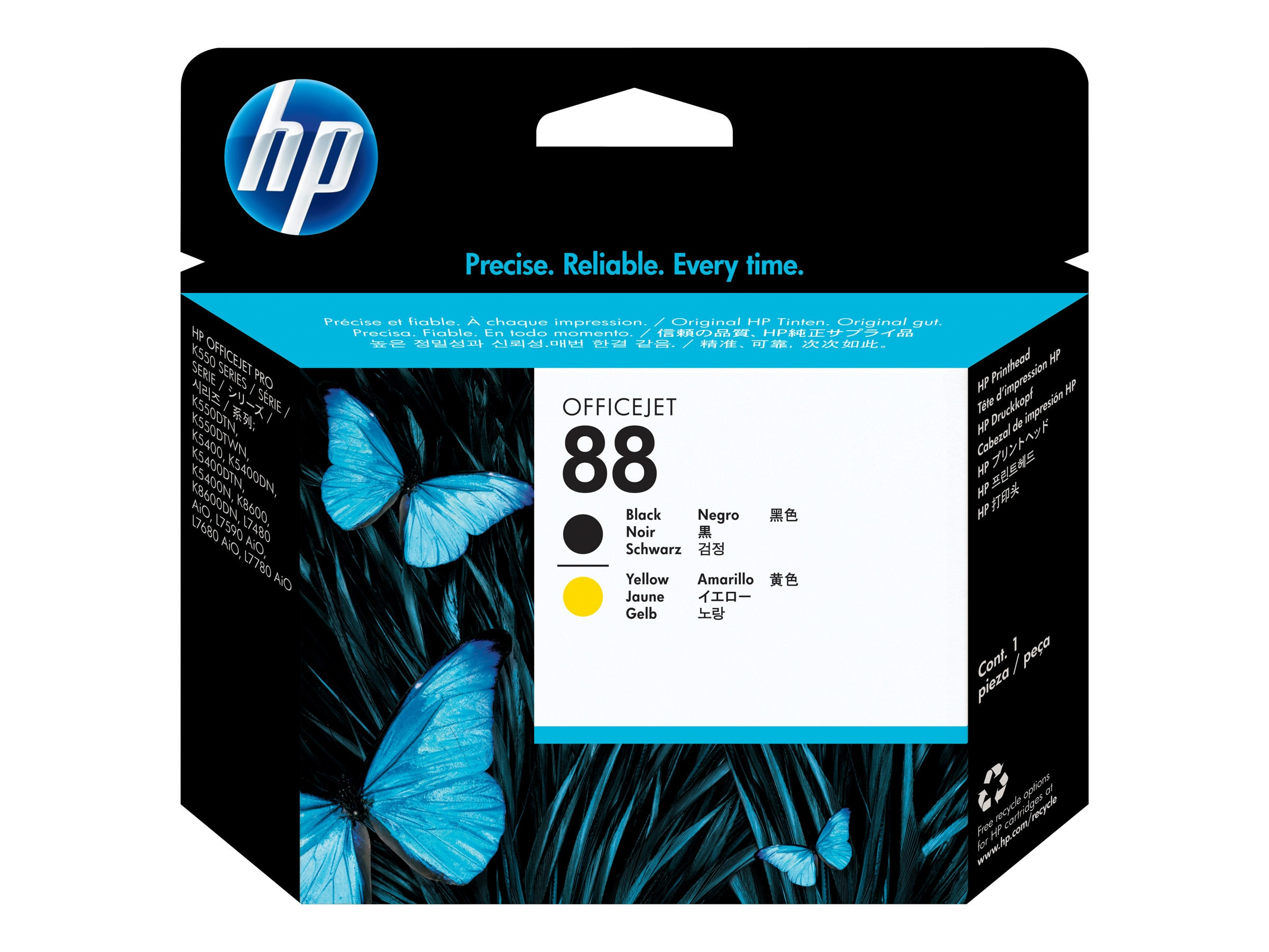 HP 88 Black & Yellow Printhead, C9381A, 6117197, Ink Cartridges & Ink Refill Kits