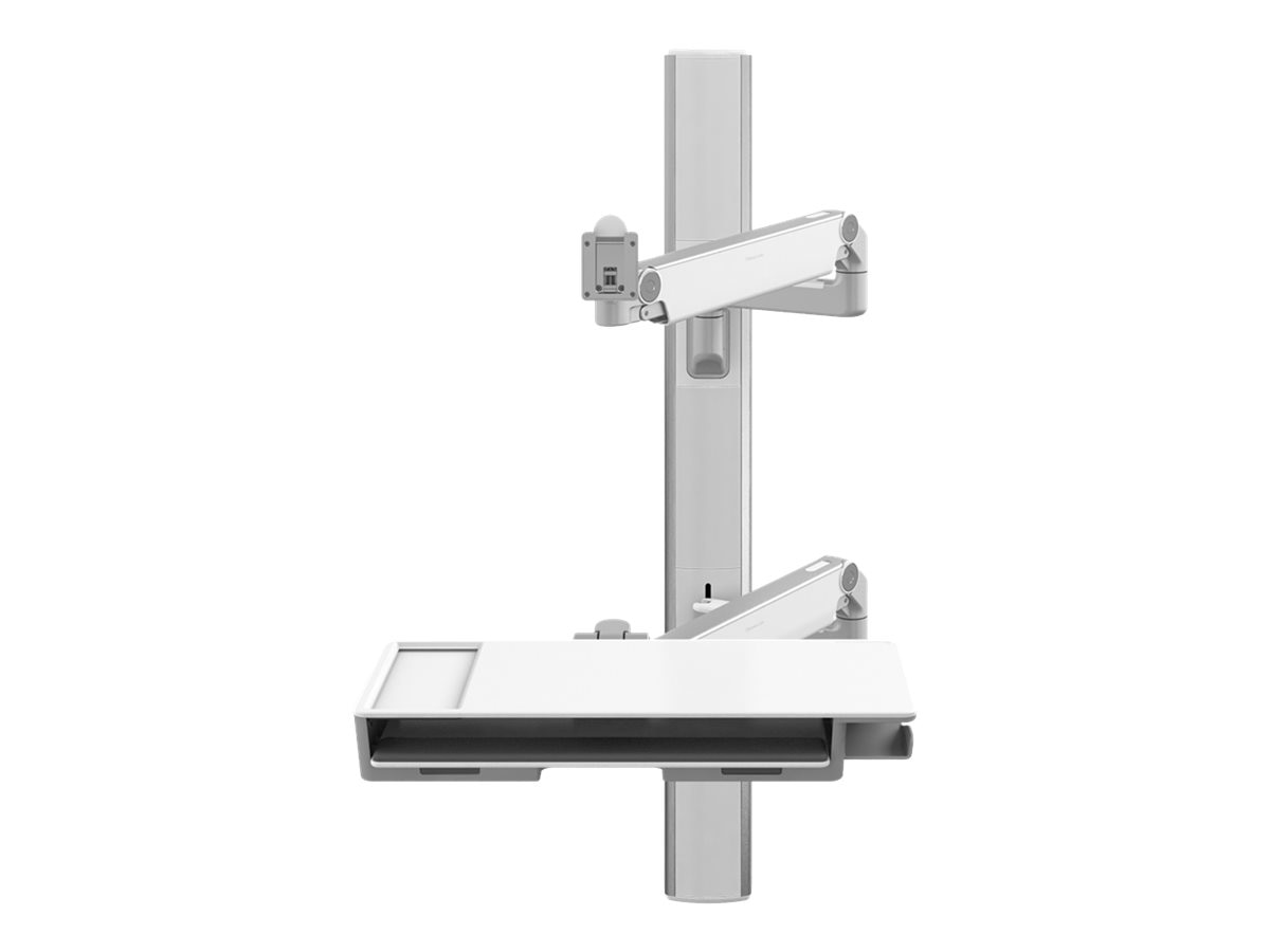 Humanscale V6 Wall Station, 47 Track, 9 Straight 20 Adjustable Monitor Arm, VDesk, V647-1111-20000, 31015272, Wall Stations