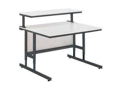 Da-Lite 31.5w Height Adjustable Computer Tables with Modesty Panels