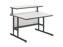 Da-Lite 31.5w Height Adjustable Computer Tables with Modesty Panels, 90089, 18570765, Furniture - Miscellaneous