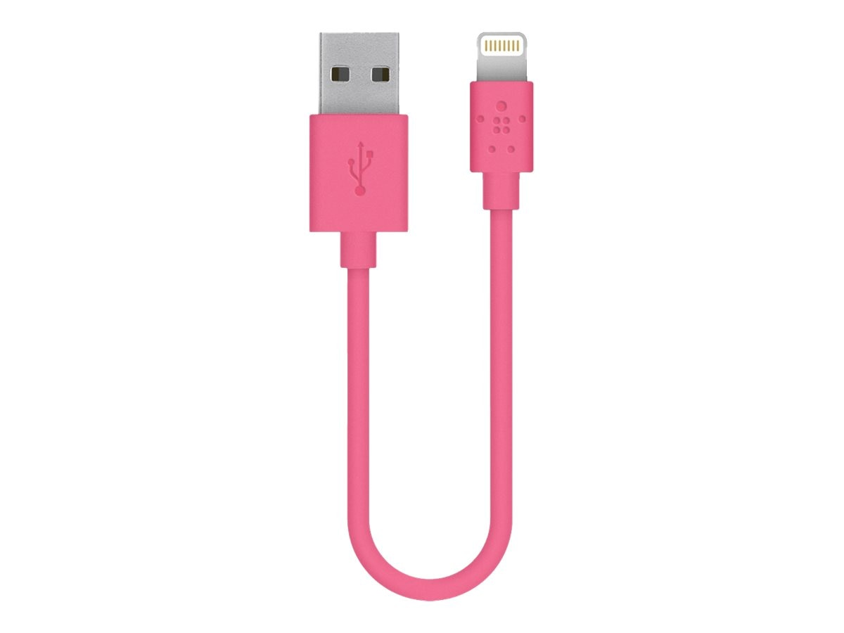 Belkin MIX IT Lightning Sync Charge Cable, Pink, 6, F8J023BT06INPNK