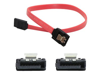 ACP-EP Latching SATA to SATA F F Cable, Red, 2ft, 5-Pack