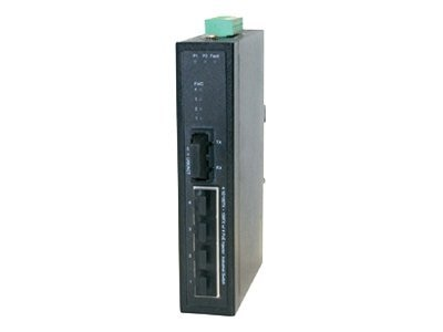 Milan Industrial 4-Port PoE 10 100BaseTX to 100BaseFX Unmanaged Switch, SISTP1013-141-LRT, 8509821, Network Switches