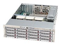 Supermicro Chassis, 3U Rackmount, Dual Xeon, 16 3.5 HS U320 SCSI, DVD-ROM, 800W RPS, Silver, CSE-836S2-R800V, 7942682, Cases - Systems/Servers