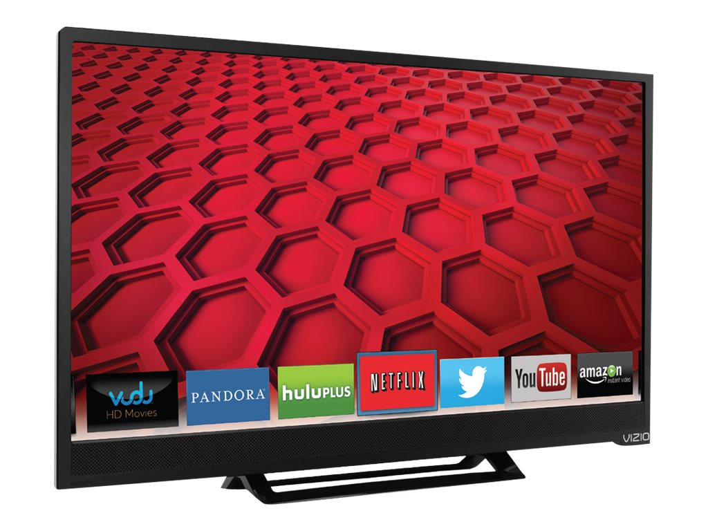Vizio 24 E24-C1 LED-LCD Smart TV, Black, E24-C1, 18478117, Televisions - LED-LCD Consumer