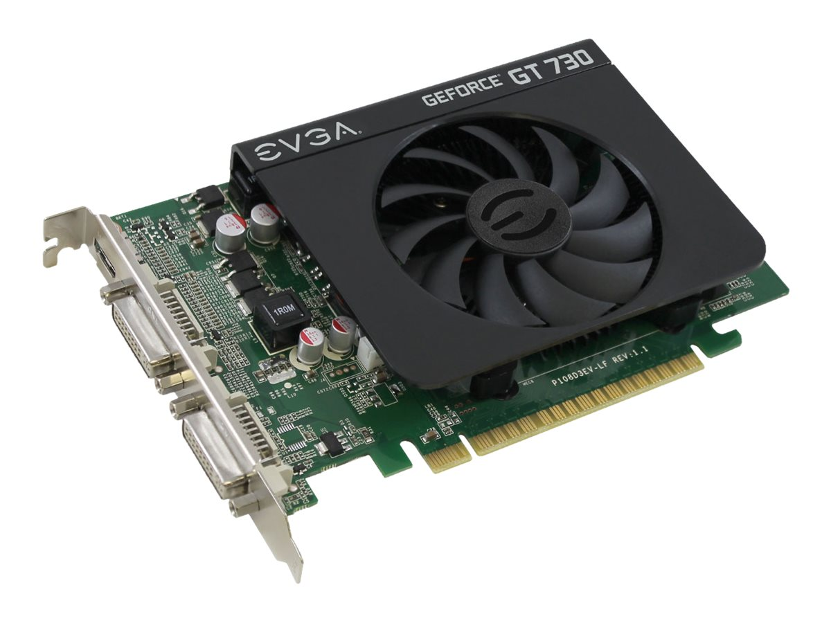 eVGA GeForce GT 730 PCIe Graphics Card, 4GB DDR3, 04G-P3-2739-KR, 31283576, Graphics/Video Accelerators