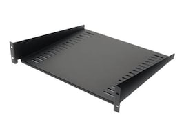 APC NetShelter 50lb Fixed Shelf, Black, AR8105BLK, 237482, Rack Mount Accessories