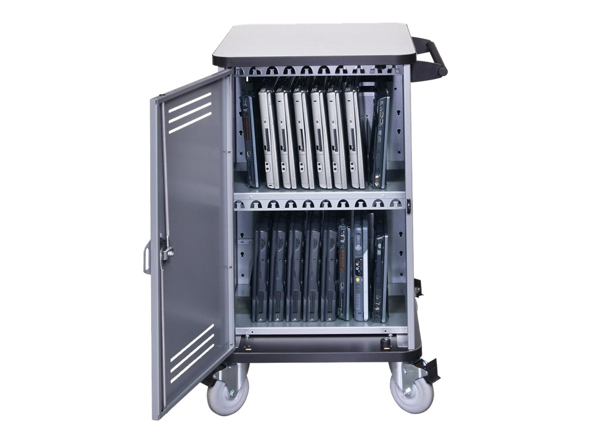 Spectrum Industries Pro32 Notebook Cart with 4 Balloon Wheels