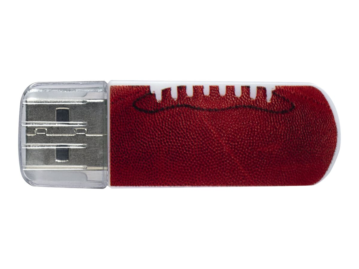 Verbatim 16GB Mini USB 2.0 Sports Edition Flash Drive, Football, 98678