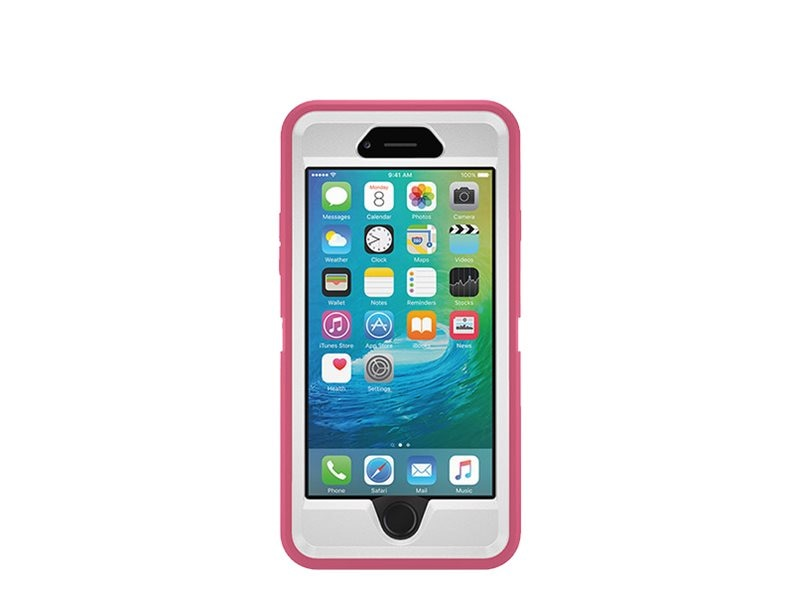 OtterBox Defender for iPhone 6 6S, Hibiscus Frost, 77-52135, 30666057, Carrying Cases - Phones/PDAs