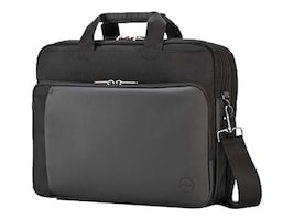 Dell Premier Fabric Briefcase 15.6, Black, 826MN, 30952416, Carrying Cases - Notebook