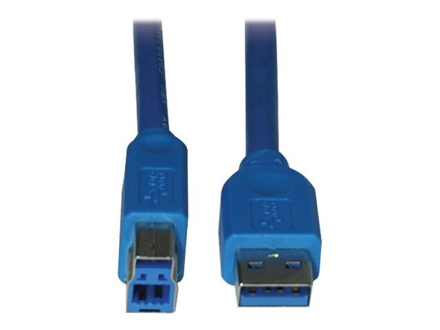 Tripp Lite USB 3.0 Super Speed Device Cable, USB Type A to USb Type B (M-M), Blue, 6ft, U322-006