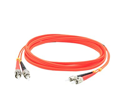 ACP-EP ST-ST 62.5 125 OM1 Multimode LSZH Duplex Fiber Cable, Orange, 1m, ADD-ST-ST-1M6MMF
