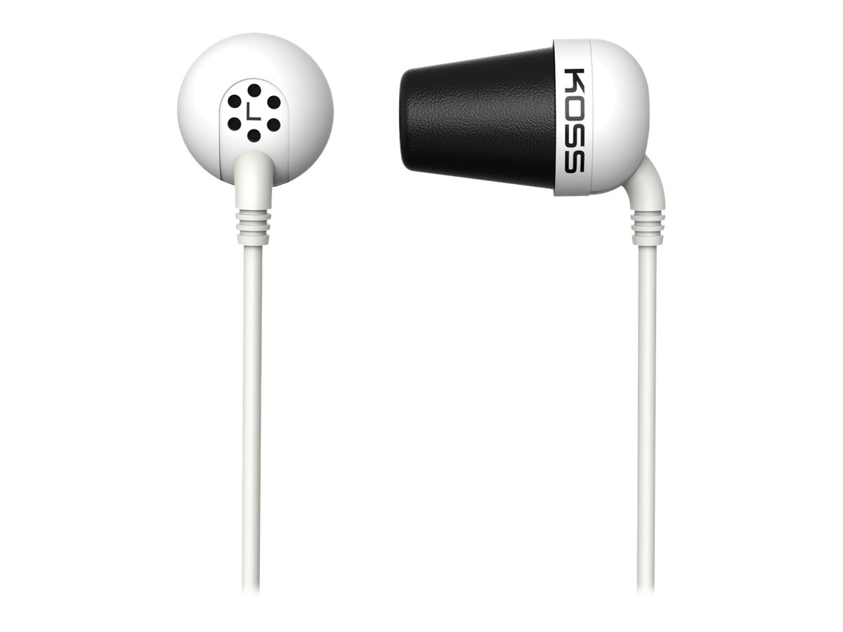 Koss Noise Isolating Ear Bud - White, PLUG W, 16910439, Headphones