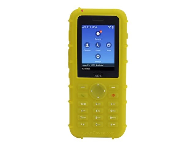 Zcover Printed Silicone, Yellow, Dock-in-case for Cisco 8821 8821-EX