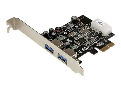 StarTech.com 2-Port PCI Express (PCIe) SuperSpeed USB 3.0 Card Adapter with UASP - LP4 Power, PEXUSB3S25, 16533012, Controller Cards & I/O Boards