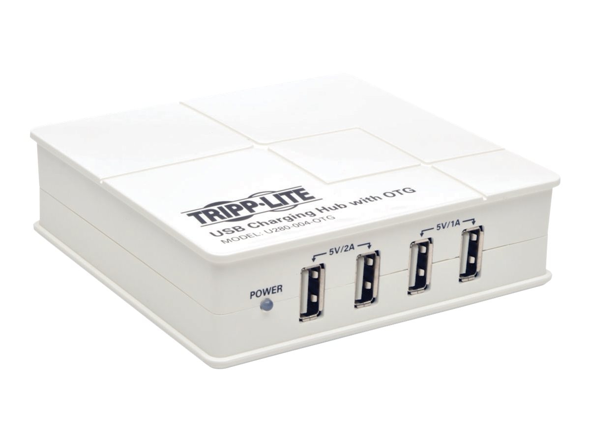 Tripp Lite 4-Port USB Tablet SmartPhone iPad Charging Station with OTG Hub, U280-004-OTG, 18126681, Charging Stations