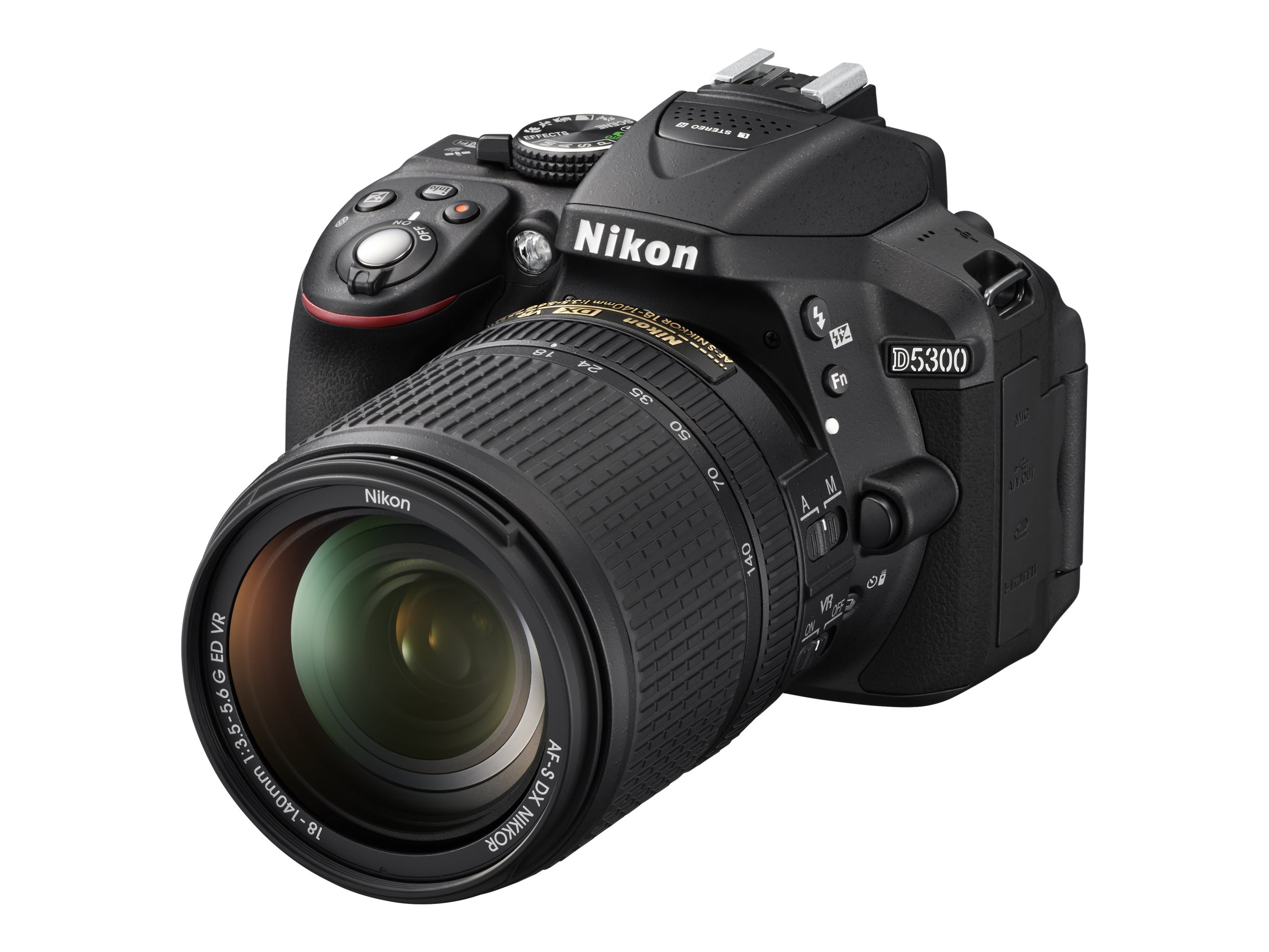Nikon D5300 DX-Format Digital SLR with 18-140mm VR Lens - Black
