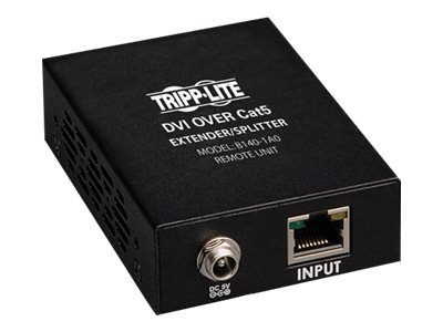 Tripp Lite DVI over Cat5 Cat6 Extender, Video Receiver, 1920x1080 at 60Hz, B140-1A0