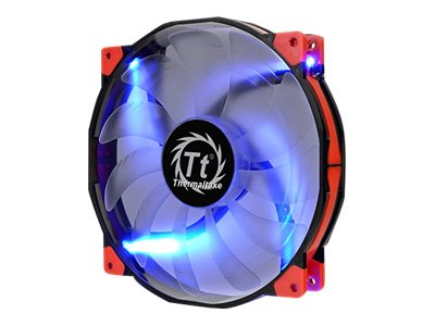 Thermaltake Luna 20 Blue LED Silent Case Fan, 200x200x30mm, CL-F024-PL20BU-A, 17845659, Cooling Systems/Fans