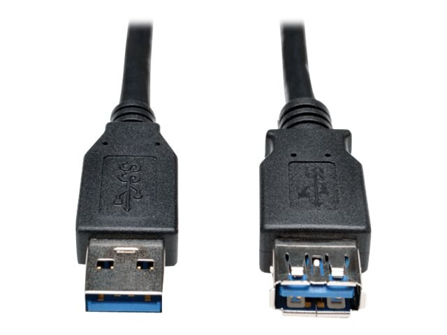 Tripp Lite USB 3.0 SuperSpeed Type A M F Cable, Black, 3ft, U324-006-BK, 17455431, Cables