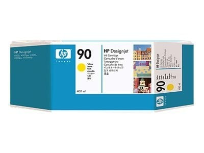 HP 90 Yellow Ink Cartridge for HP DesignJet 4000 Series Printer (400-ml), C5065A, 5718484, Ink Cartridges & Ink Refill Kits