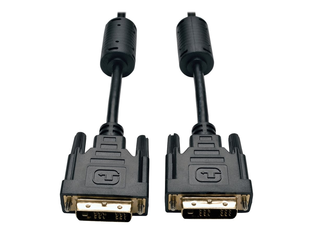 Tripp Lite DVI-D Single Link M M TDMS Cable, Black, 10ft, P561-010, 4944789, Cables