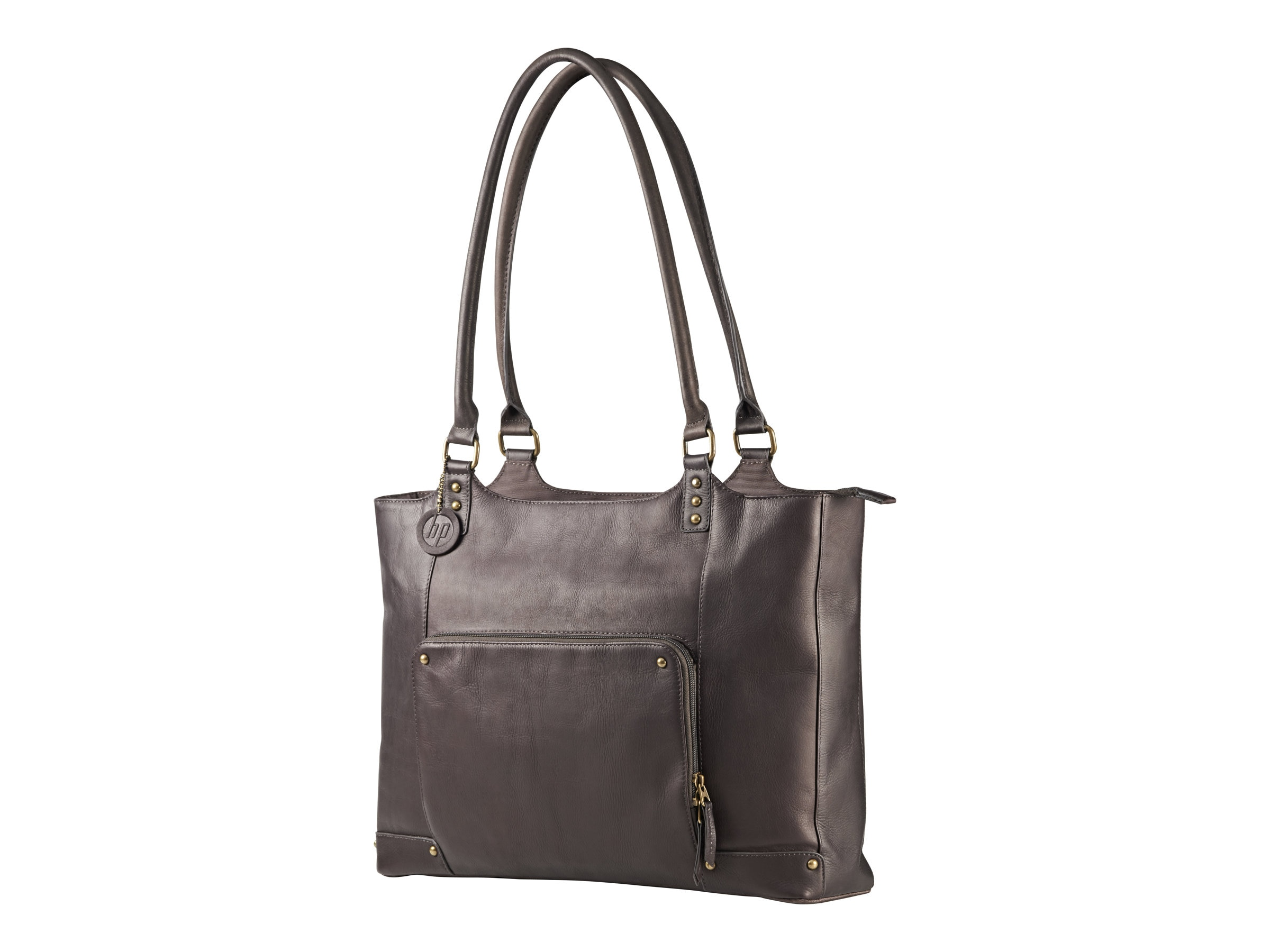 HP Ladies Leather Tote, Brown, F3W12AA