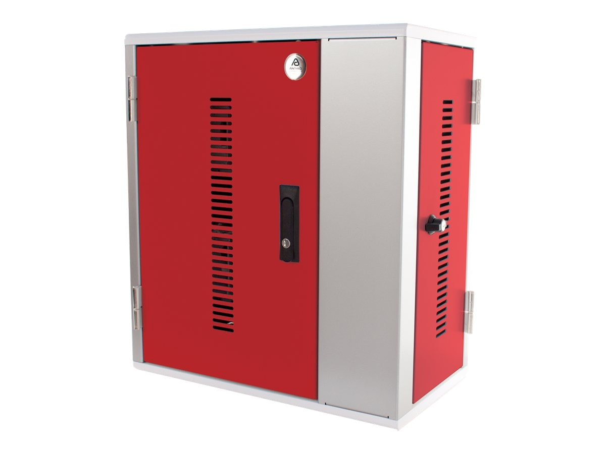 Open Box Ergotron 20-Unit Tablet Charging Cabinet, TAB20SS-RD, 30813660, Charging Stations
