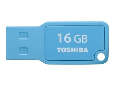 Toshiba 16GB TransMemory U201 Mini USB 2.0 Flash Drive, Cyan, PFU016U-1AML, 30573176, Flash Drives