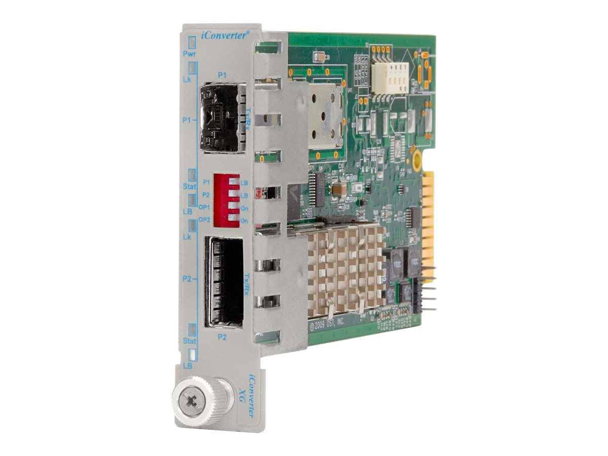 Omnitron iConverter XG+ SFP+ to XFP Plug-In Module, 8599N-01, 13517711, Network Transceivers