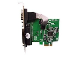 Siig Cyber 1S 1P PCIe RS-232 & DB25 Controller, JJ-E00011-S3, 11699013, Controller Cards & I/O Boards