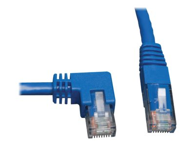 Tripp Lite Cat6 Patch Cable, Left Angle to Straight, Blue, 5ft, N204-005-BL-LA