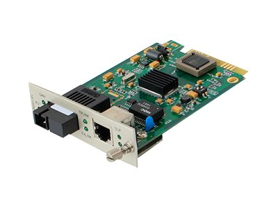 ACP-EP Media Converter Card  100BXD 40KM 1310 1550NM SM SC For Add-Rack System, ADD-MCC1MBX35-40, 16042555, Network Transceivers