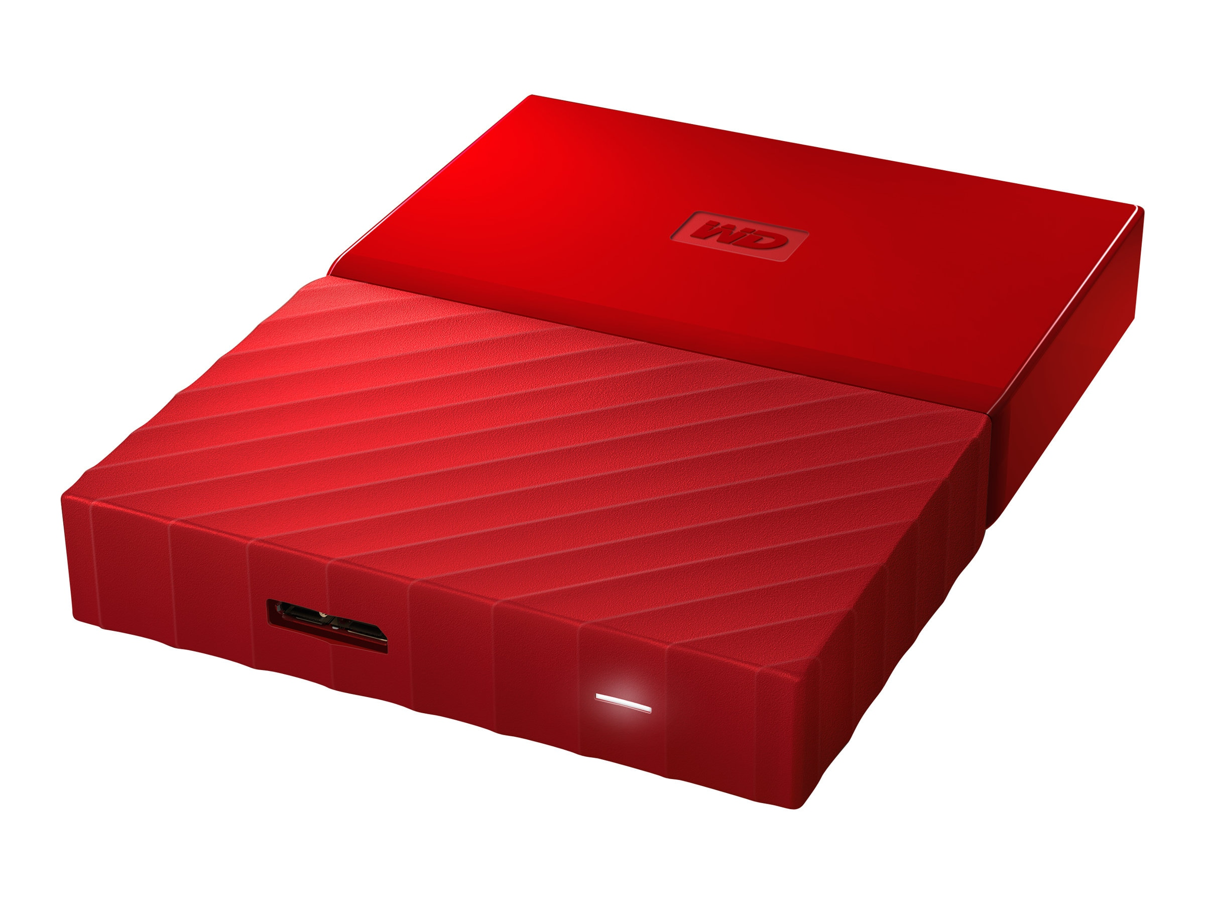 WD 2TB My Passport USB 3.0 Portable Hard Drive - Red, WDBYFT0020BRD-WESN