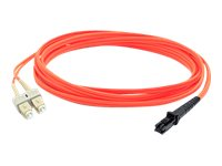 ACP-EP MT-RJ to SC LSZH Multimode Duplex Fiber Cable, Orange, 2m