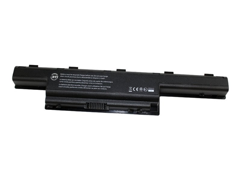 BTI Battery, Li-Ion 10.8V 4400mAh 6-cell for Gateway NV50A NV51B NV53 NV53A, GT-NV59C, 12828999, Batteries - Notebook