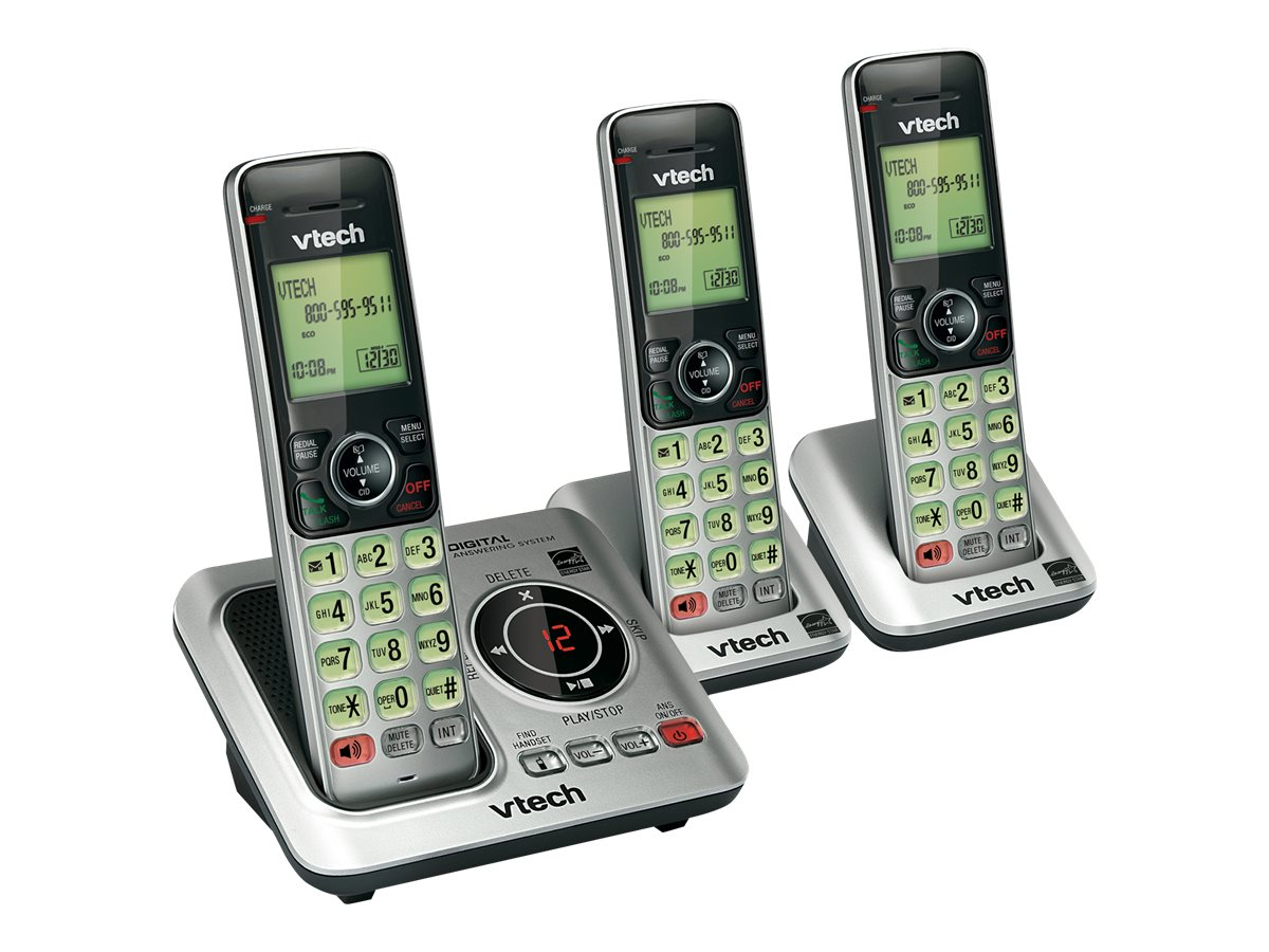 Vtech CS6629-3 DECT6.0 3 Handset Answering System w  Caller ID Call Waiting, CS6629-3