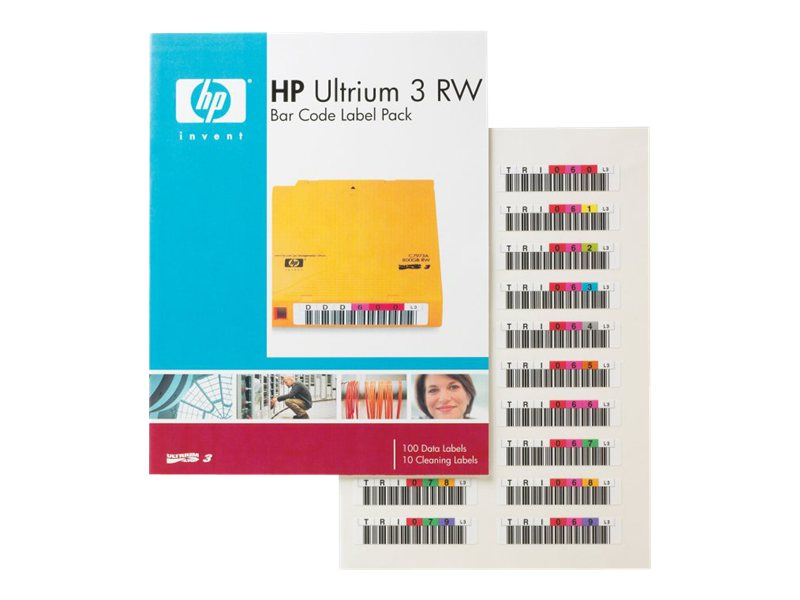 HPE Ultrium 3 RW Bar Code Label Pack